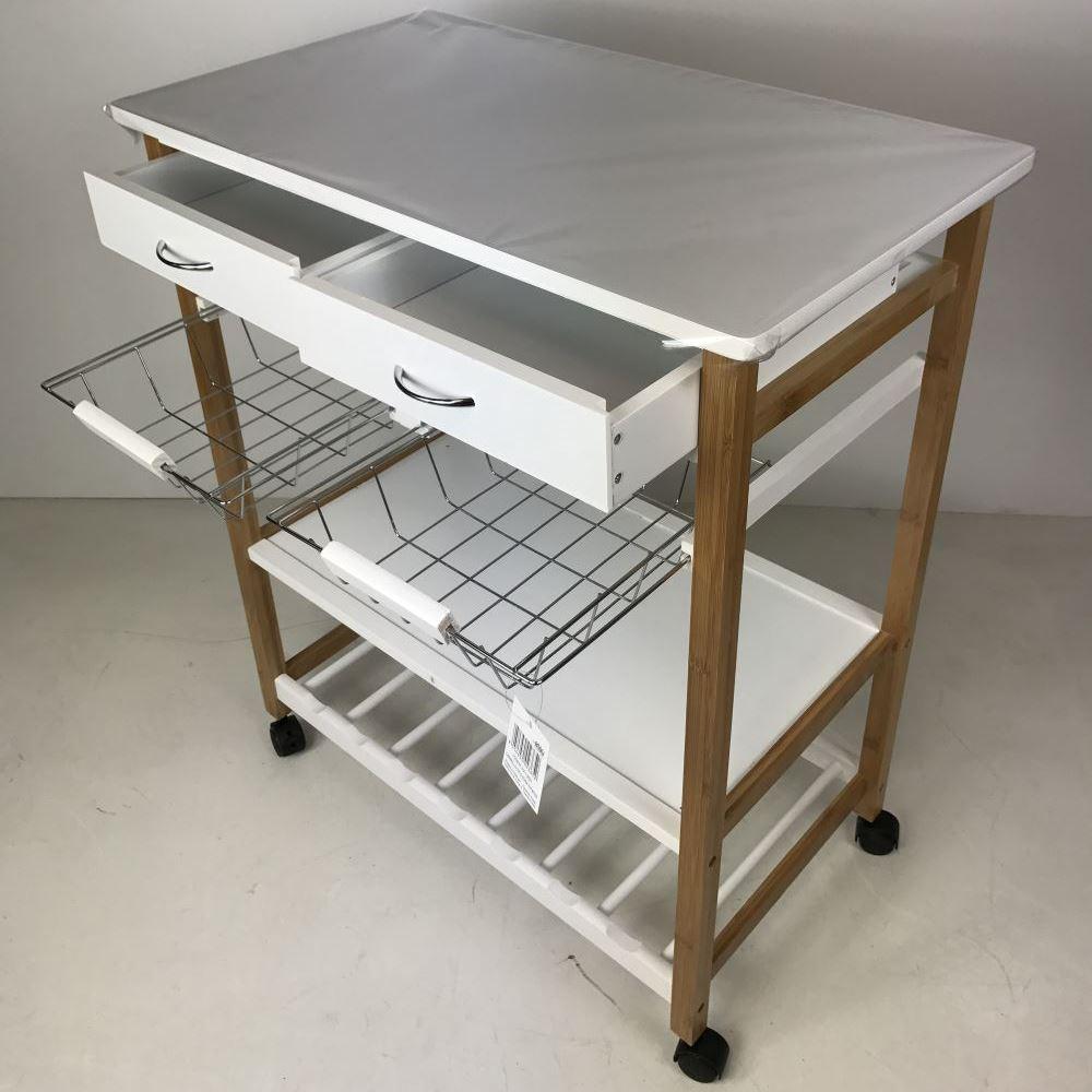 Carrello da Cucina 70X40X83 cassetti aperti