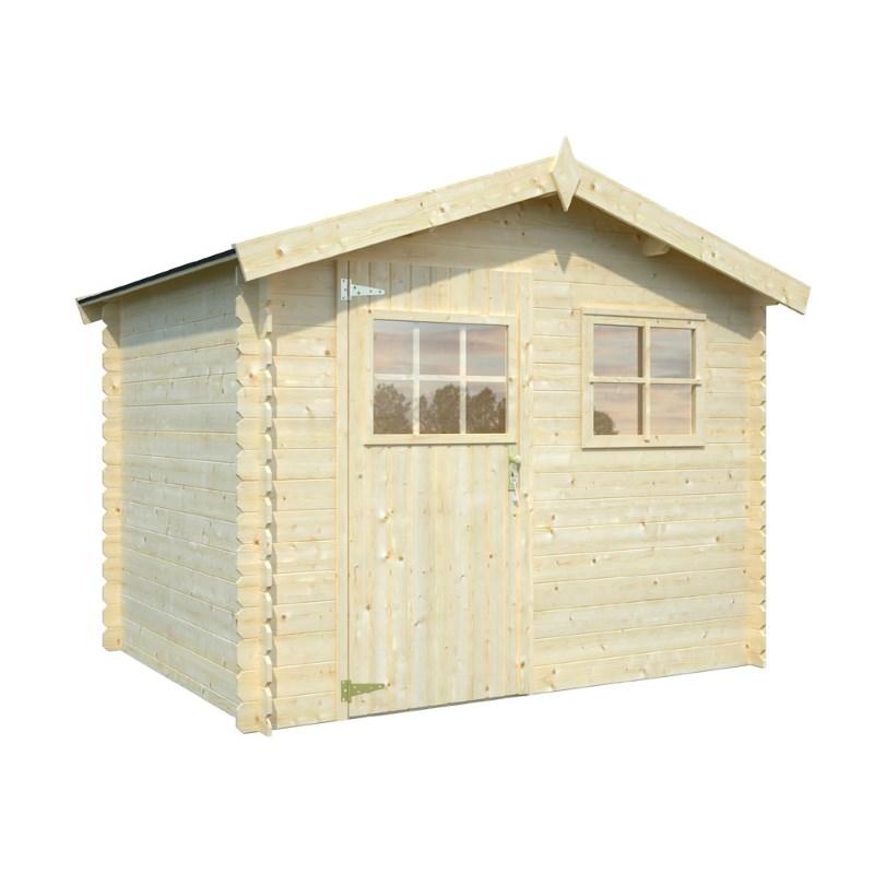 Casetta blockhaus oxford in abete grezzo prezzi e offerte for Abete da giardino