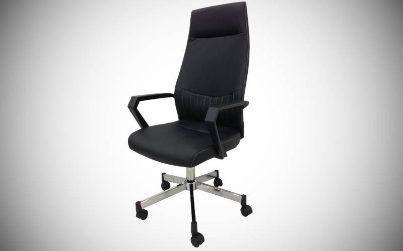 Sedie Ufficio Ecopelle : Sedia adele da ufficio nera in ecopelle prezzi e offerte