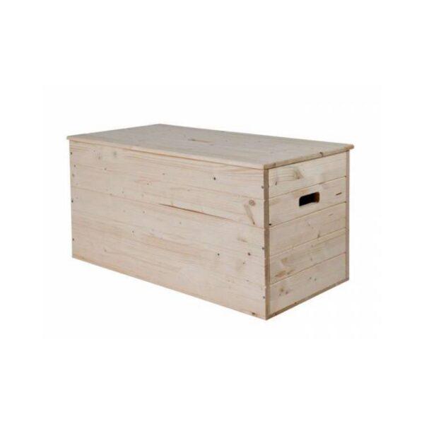 Baule in legno grezzo di pino, marca Pircher.