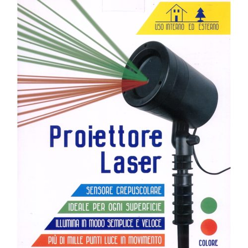 Proiettore laser verde e rosso interno ed esterno