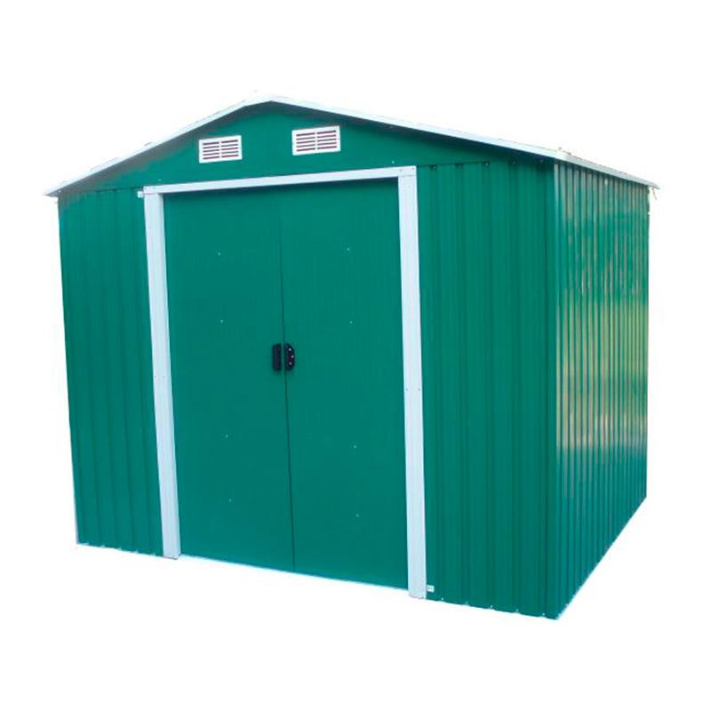 casetta ricovero per attrezzi verde in lamiera
