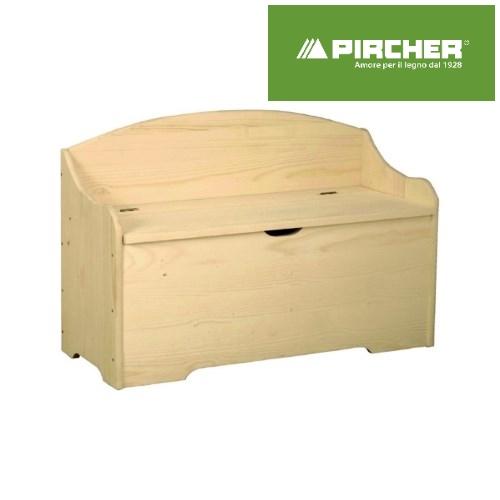 Cassapanca pircher in legno grezzo