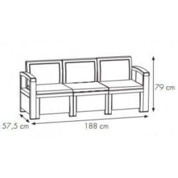 misure set nebraska divano 3 posti