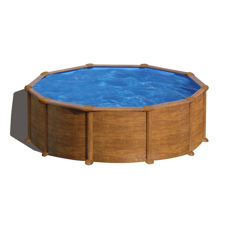 Piscina fuori terra gre mauritius legno 460x132 cm prezzi e offerte - Offerte piscine fuori terra ...