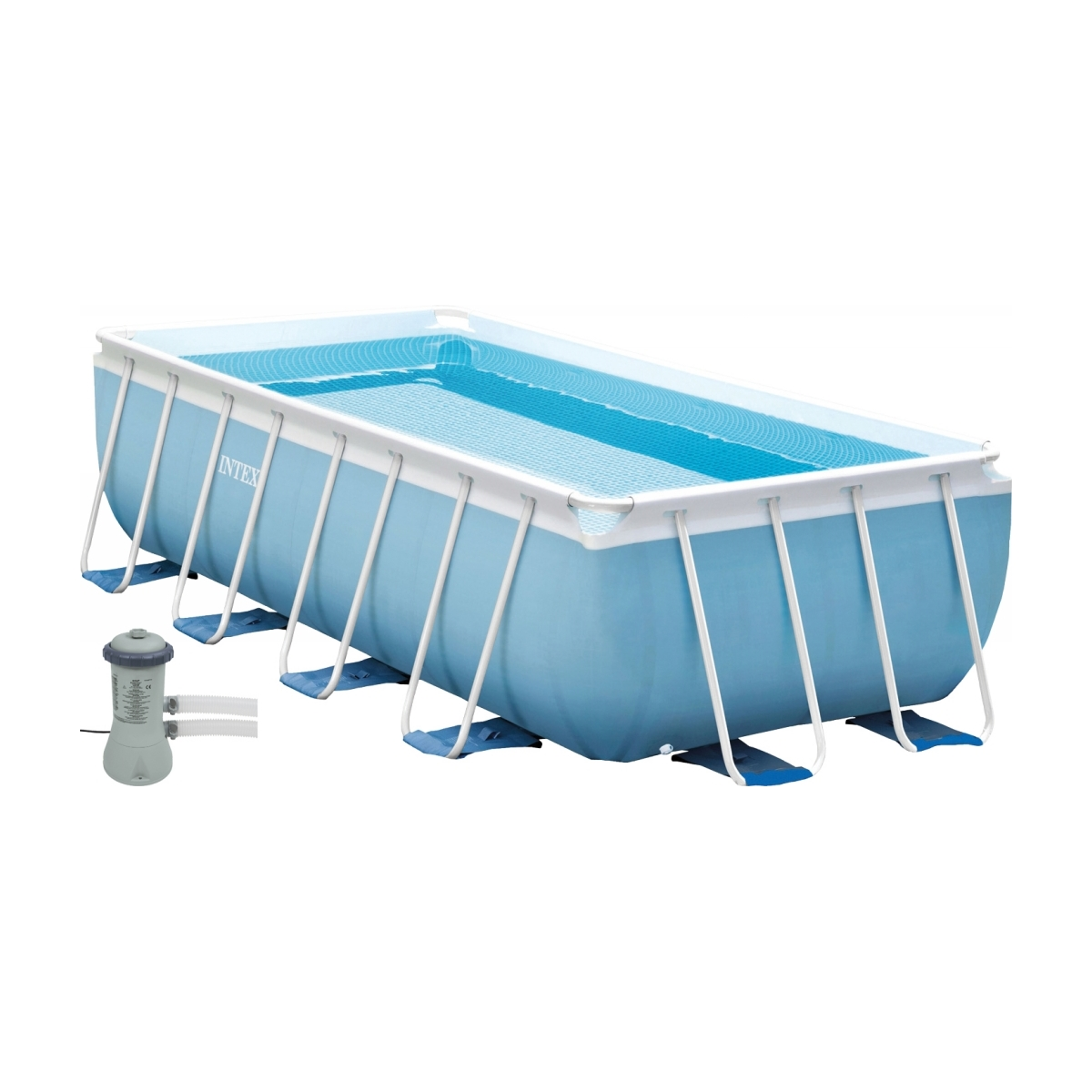 Piscina fuori terra prisma metal frame intex 300x175x80 cm for Offerte piscine intex