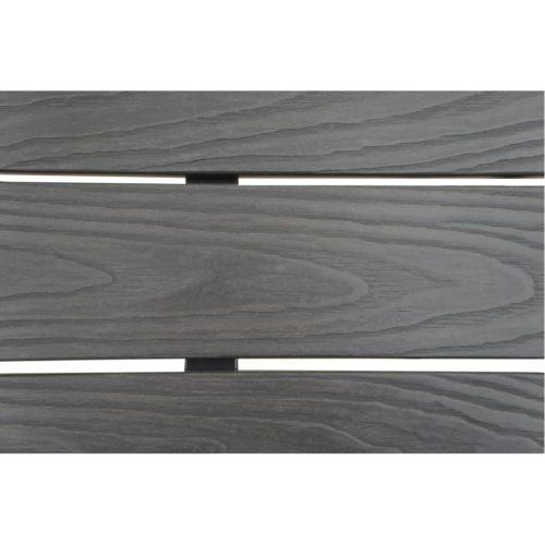 tavolo alluminio e polywood colore antracite dettaglio