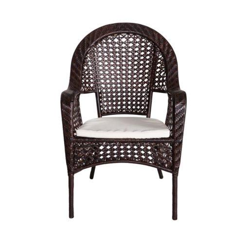 Sedia salotto da esterno Bristro Chenge in polyrattan e acciaio