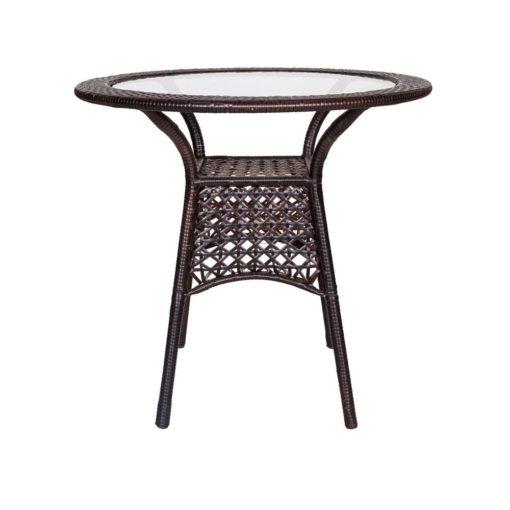 salotto da esterno Bistro Chenge tavolino in polyrattan e acciaio