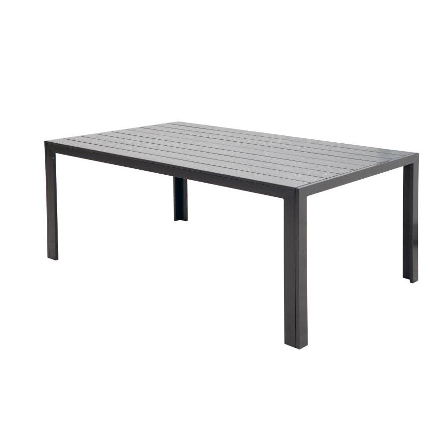 Tavolo alluminio e polywood antracite da esterno