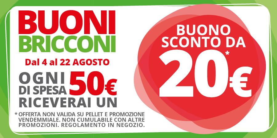Promozione Buoni Bricconi Agosto 2018