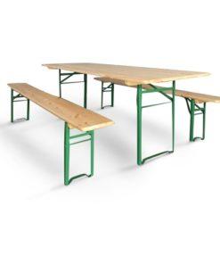Set Birreria Cervino composto da tavolo e due panche 220x80 cm