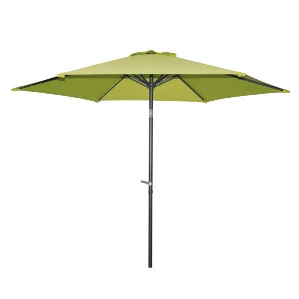 Ombrellone con palo centrale colore verde, diametro 3 metri
