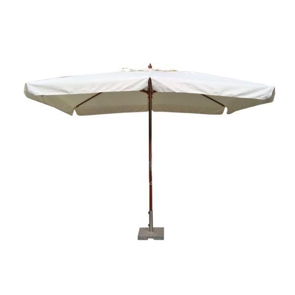 Ombrellone con palo centrale in legno Lux 2x3 m