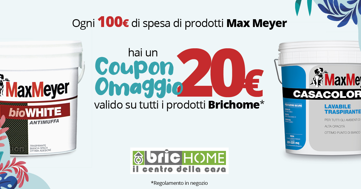 Mese del Colore Coupon 20€ Max Meyer