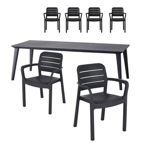 Set Lima tavolo e 6 sedie