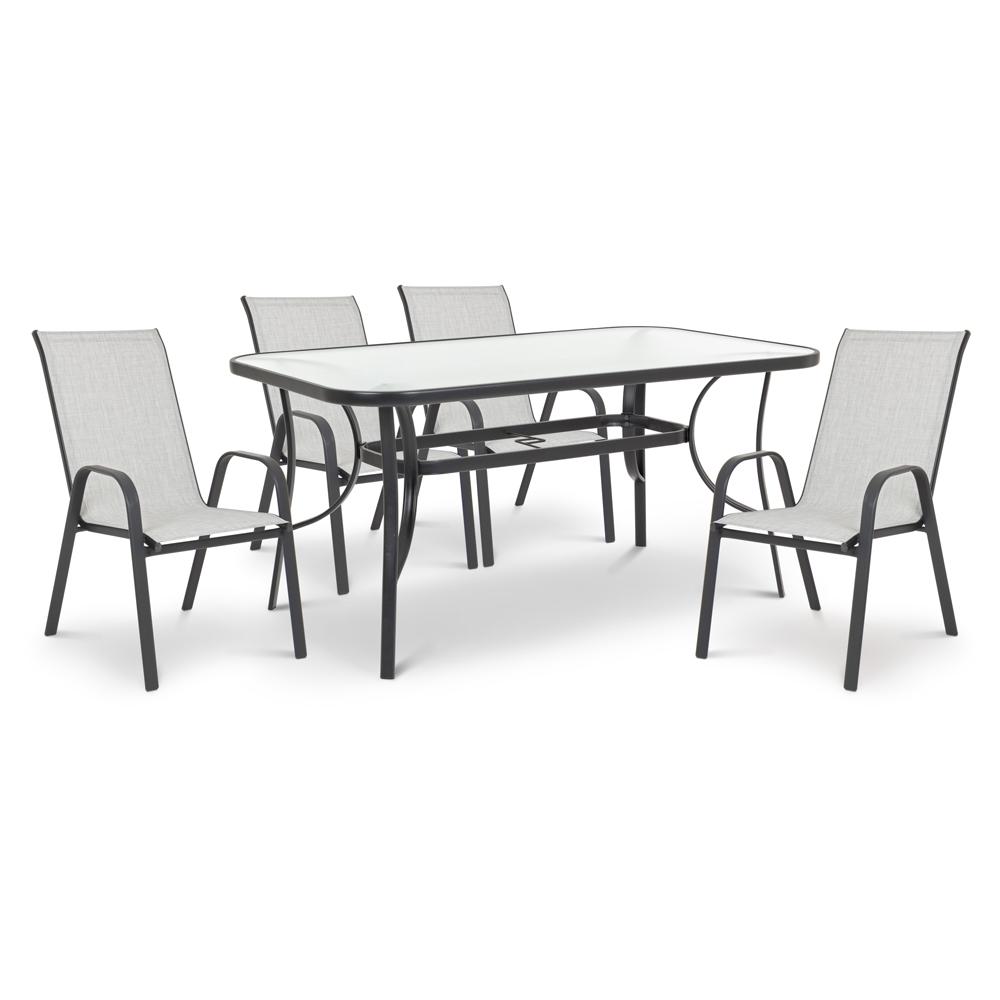 Set Lessie tavolo con 4 sedie