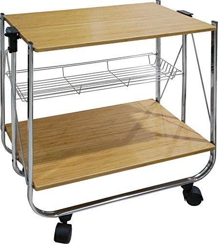 carrello da cucina pieghevole in acciaio pratico e richiudibile comodamente
