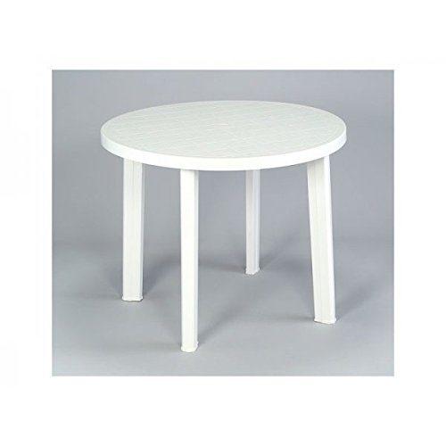 Tavolo Da Giardino Grand Soleil.Tavolo Grand Soleil Sestri Tondo 90cm Bianco Da Esterni Prezzi E