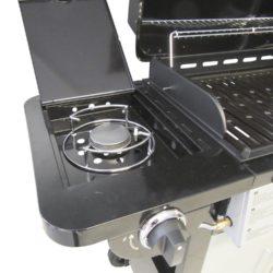 dettaglio fuoco Barbecue a Gas a 3 Fuochi 112x45xh102