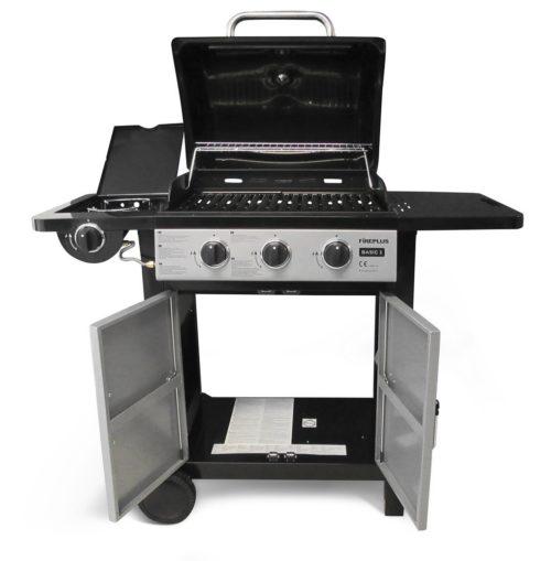 Barbecue a Gas a 3 Fuochi 112x45xh102 frontale