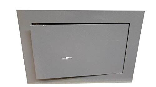 Cassaforte per la casa a muro a chiave 310x150x210 mm in acciaio di grande spessore