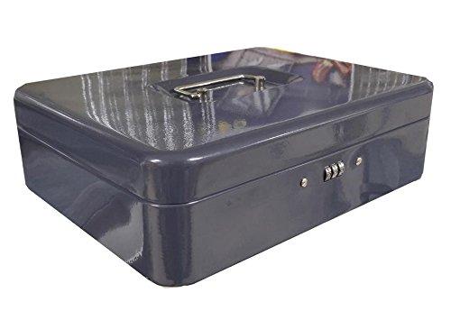 Cassetta portavalori per contanti 300x240x90 mm in acciaio con chiusura a combinazione